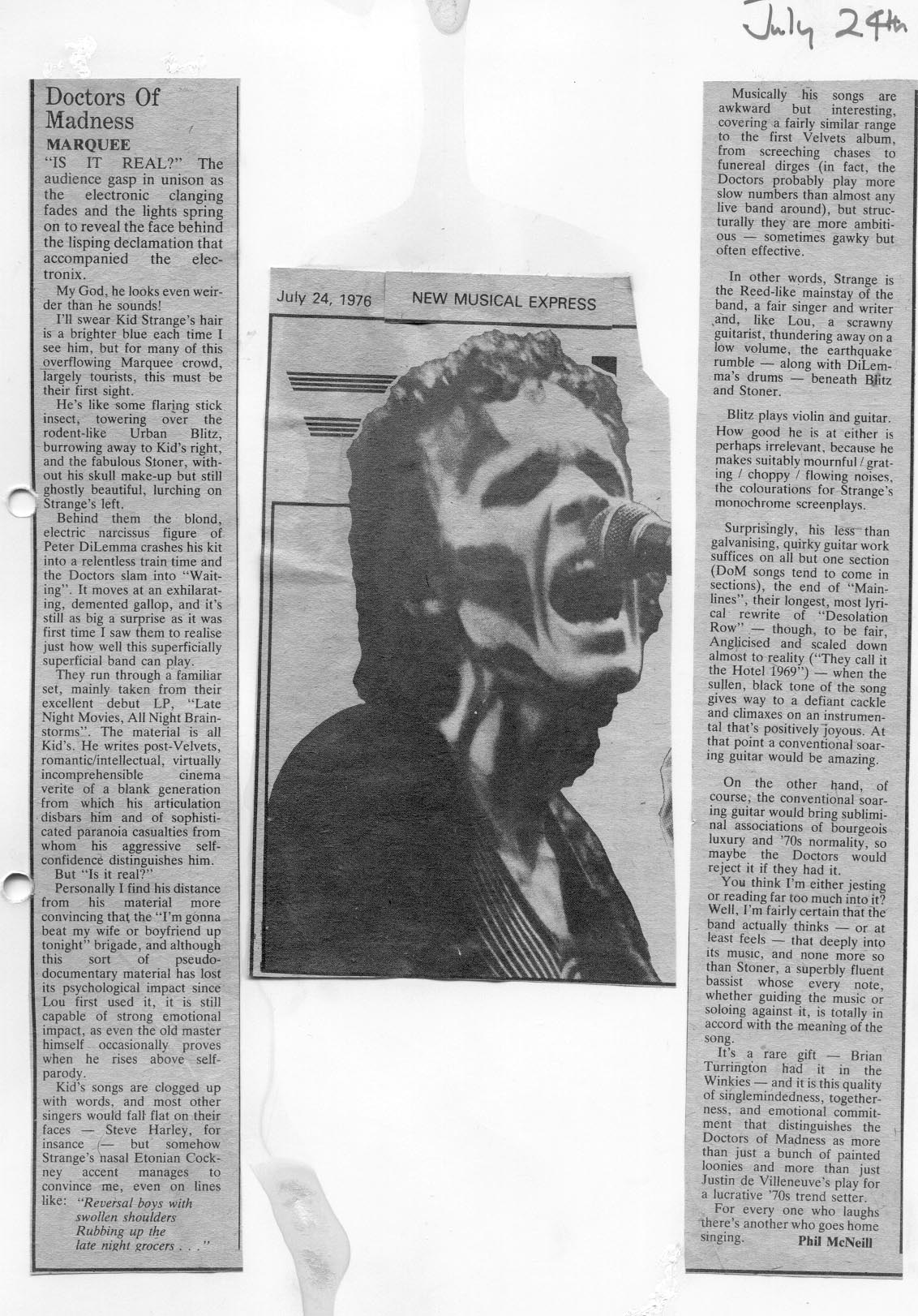 Doctors-NME Marquee review 1976
